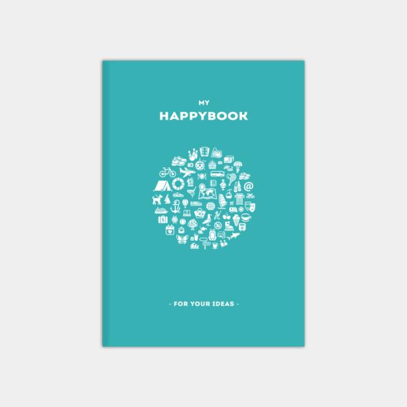 """Скетчбук """"HappyBook"""", Aqua (А5)"""