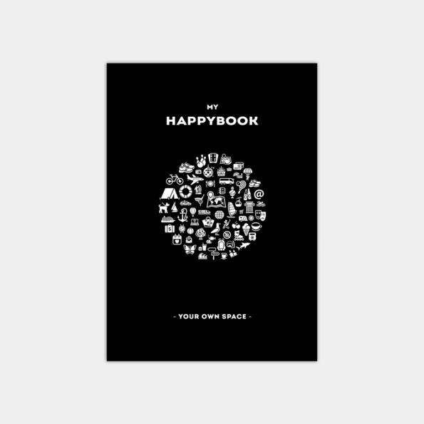 """Скетчбук """"HappyBook"""", Black (А5)"""