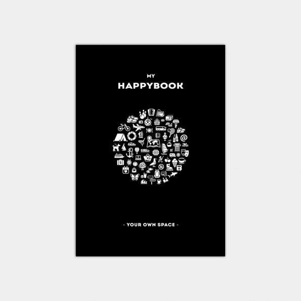 "Скетчбук ""HappyBook"", Black (А5)"